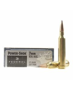 Federal Power-Shok 7mm Remington Magnum 175 Grain Soft Point 20 Rounds
