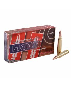 Hornady Match Superformance 223 Remington/5.56 NATO 75 Grain Boat Tail Hollow Point 20 Rounds