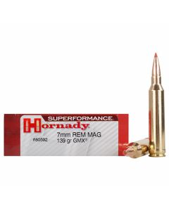 Hornady Superformance 7mm Remington 139 Grain GMX Polymer Tip Boat Tail 20 Rounds