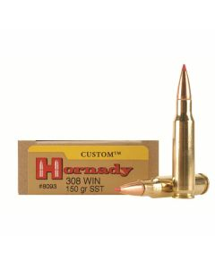Hornady Custom 308 Winchester 150 Grain Polymer Tip Boat Tail 20 Rounds