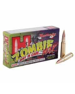 Hornady Zombie Max 308 Winchester 168 Grain Polymer Tip Flat Base 20 Rounds