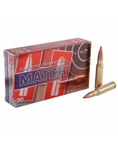 Hornady Superformance Match 308 Winchester 168 Grain ELD Polymer Tip Boat Tail 20 Rounds