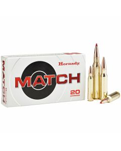 Hornady Match 308 Winchester 168 Grain Hollow Point Boat Tail 20 Rounds