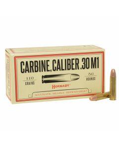 Hornady Custom 30 Carbine 110 Grain Full Metal Jacket 50 Rounds