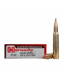 Hornady Superformance 30-06 Springfield 150 Grain SST Polymer Tip Boat Tail 20 Rounds