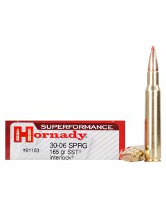 Hornady Superformance 30-06 Springfield 165 Grain SST Interlock 20 Rounds