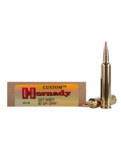 Hornady Custom 257 Weatherby Magnum 90 Grain GMX Boat Tail 20 Rounds
