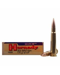 Hornady Vintage Match 303 British 174 Grain Hollow Point Boat Tail 20 Rounds