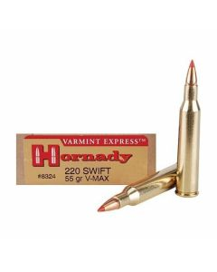 Hornady Varmint Express 200 Swift 55 Grain V-Max Polymer Tip Flat Base 20 Rounds