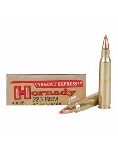 Hornady Varmint Express 223 Remington 40 Grain V-Max 20 Rounds