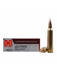 Hornady Superformance 223 Remington 55 Grain GMX Hollow Point Lead Free 20 Rounds