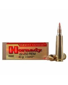 Hornady Varmint Express 22-250 Remington 40 Grain V-Max 20 Rounds