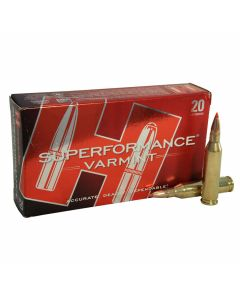 Hornady Superformance Varmint 243 Winchester 58 Grain V-Max 20 Rounds