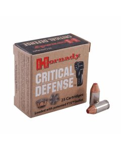 Hornady Critical Defense 380 ACP 90 Grain Flex Tip Expanding 25 Rounds