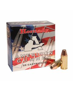 Hornady American Gunner 9mm Luger +P 124 Grain XTP Jacketed Hollow Point 25 Rounds