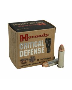 Hornady Critical Defense 38 Special +P 110 Grain Flex Tip Expanding 25 Rounds