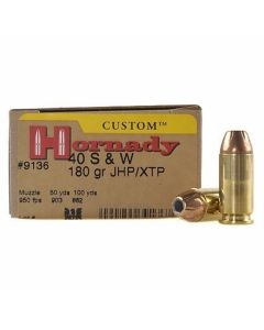 Hornady Custom 40 S&W 180 Grain XTP Jacketed Hollow Point 20 Rounds