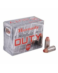 Hornady Critical Duty 40 S&W 175 Grain Flex Lock Polymer Tip Flat Base 20 Rounds