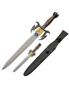 Szco Fantasy Short Sword and Dagger Set Stainless Steel Blades Composition Handles