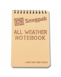 SnugPak All Weather Notebook - Desert Tan - Large