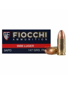 Fiocchi Shooting Dynamics 9mm Luger 147 Grain Full Metal Jacket 50 Rounds