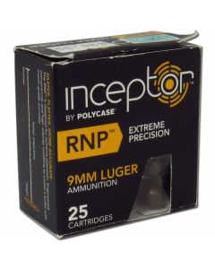 Polycase Inceptor 9mm Luger 84 Grain Round Nose Projectile Lead Free 25 Rounds