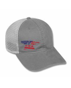 Buck Knives Mesh Back Stars and Bars Anvil Hat Model 89120/11603