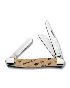 "Case Classic Logos Medium Stockman 3.625"" with Corelon Handles and Tru-Sharp Surgical Steel Plain Edge Blades 9318CC"