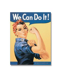 Rosie the Riveter Tin Sign Model 796