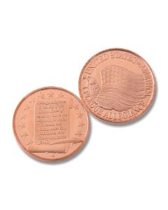 Pledge of Allegiance One Ounce Copper Round