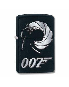 Zippo Black Matte James Bond 007 Swirl Lighter Model 29566