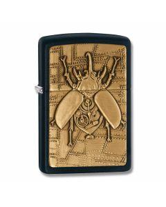 Zippo Black Matte Steampunk Beetle Lighter Model 29567