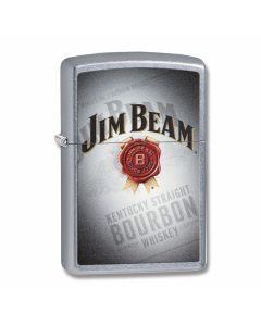 Zippo Street Chrome Jim Beam Bourbon Lighter Model 29571