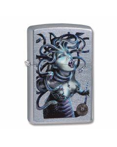 Zippo Street Chrome Anne Stokes Medusa Lighter Model 29573