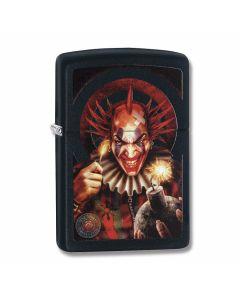 Zippo Black Matte Anne Stokes Evil Clown Lighter Model 29574