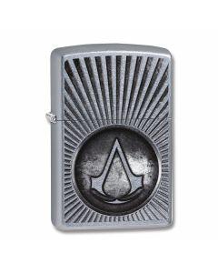 Zippo Street Chrome Assassins Creed Starburst Lighter Model 29602