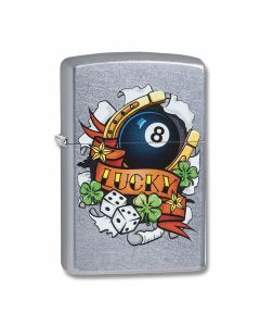 Zippo Street Chrome Lucky Lighter Model 29604