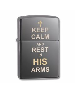 Zippo Black Ice Keep Calm and Rest Lighter Model 29610