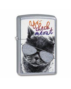 Street Chrome Check Meowt Lighter Model 29619