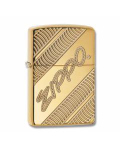 Zippo Armor High Polish Brass Zippo Diagonal Lighter Model 29625