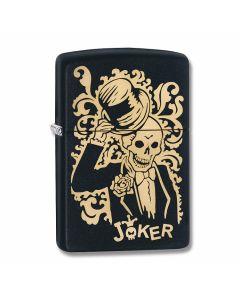 Zippo Black Matte Joker Lighter Model 29632