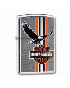 Zippo Harley Davidson High Polish Chrome Eagle and Shield Lighter Model 29656