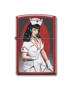 Zippo Candy Apple Red Bettie Page Nurse Bettie Lighter Model 21063CI405863