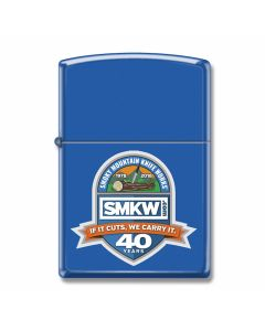 Zippo SMKW 40 Years Lighter with Blue Matte Finish Model 229CI407408