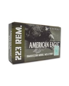 Federal American Eagle 223 Remington 55 Grain Full Metal Jacket Boat Tail 20 Rounds