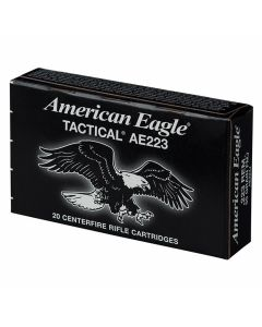 Federal American Eagle 223 Remington 62 Grain Full Metal Jacketed Boat Tail 20 Rounds