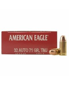 Federal American Eagle 32 ACP 71 Grains Full Metal Jacket 50 Rounds