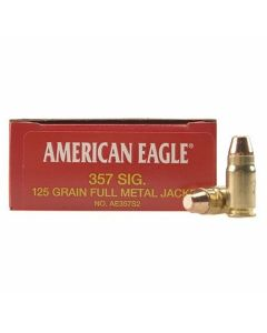 Federal American Eagle 357 Sig 125 Grain Full Metal Jacket 50 Rounds