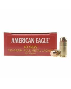 Federal American Eagle 40 S&W 155 Grain Full Metal Jacket 50 Rounds