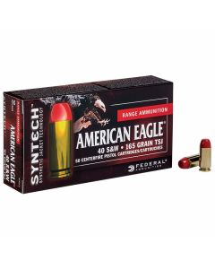 Federal American Eagle 40 S&W 165 Grain Total Synthetic Jacket 50 Rounds
